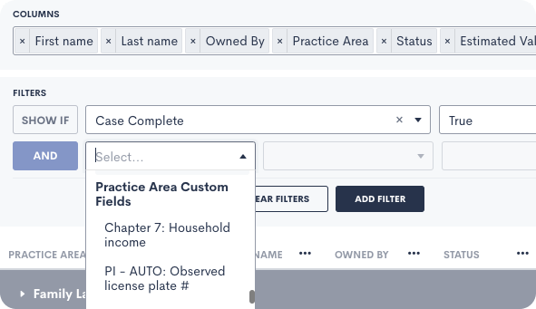 Reporting and custom fields